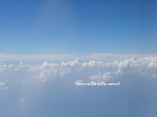 夏の雲の上